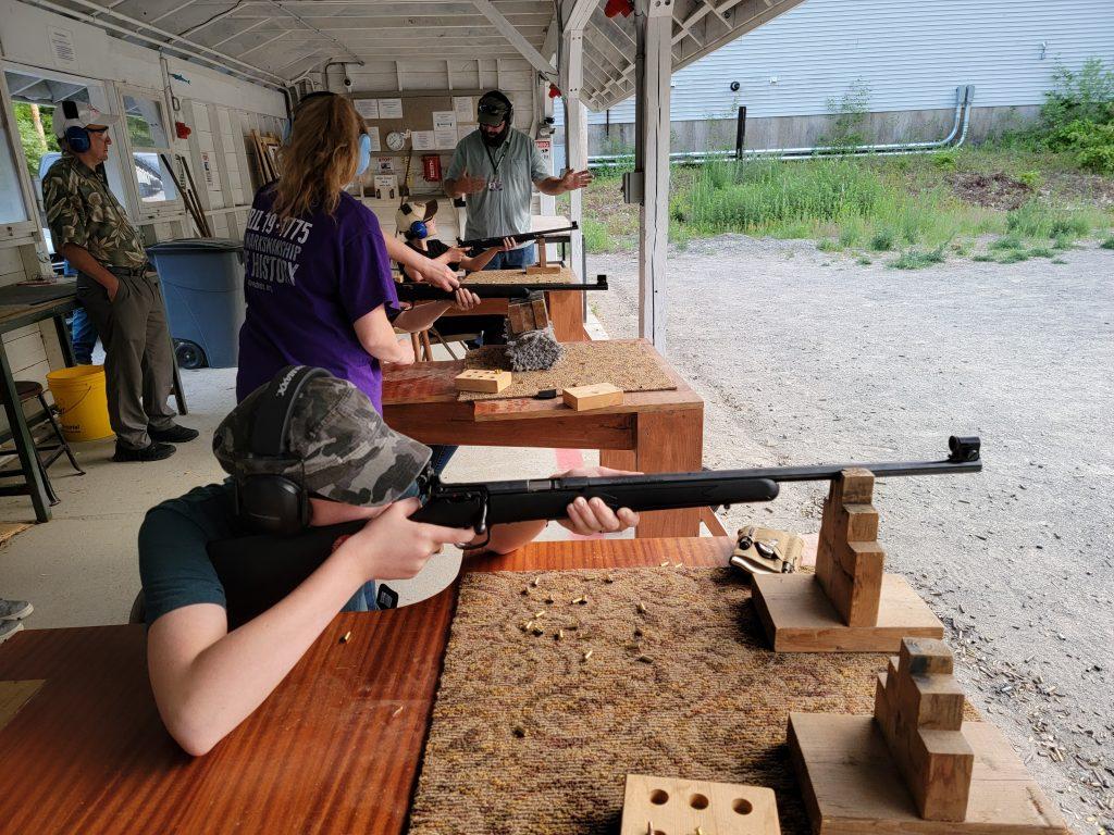 Youth marksmen at the range